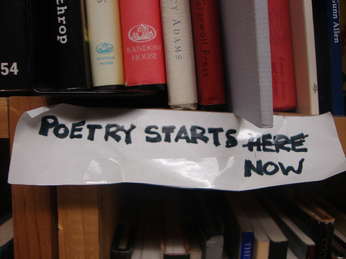Poetry starts now