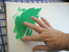 Painting with hand