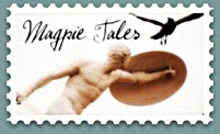 Magpie tales statue stamp
