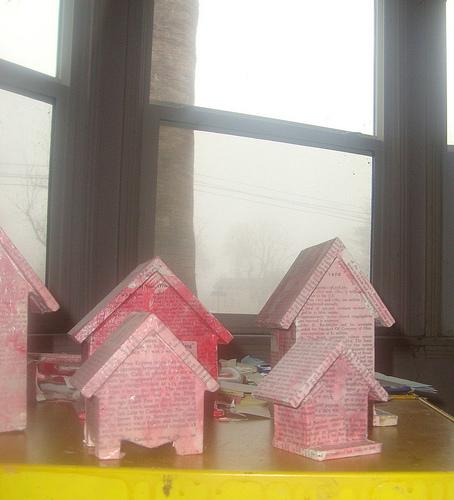 Emily houses in the fog