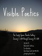 Visible poetics flyer