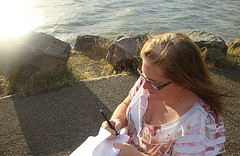 Small writing at the marina