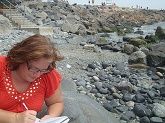 Small writing on beach sum 2010