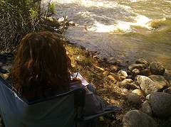 Writing by the river