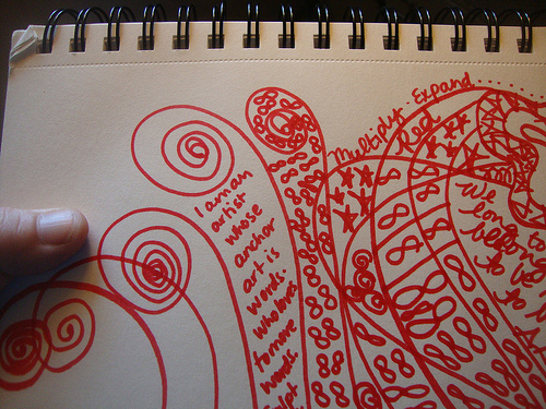 Red Zentangle