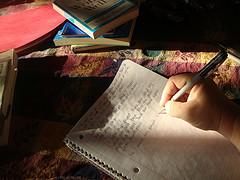 Writing to erase pain