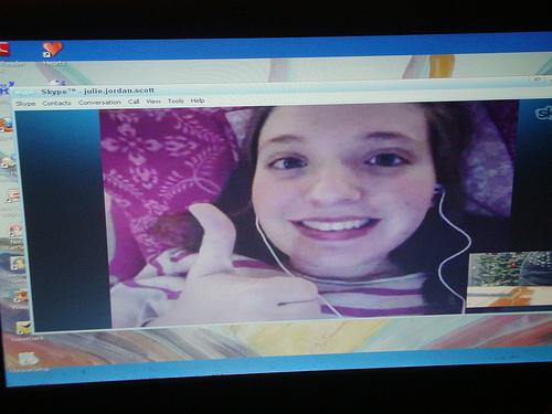 Kathie via skype