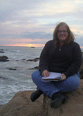 Writing at the Dana Point Jetty