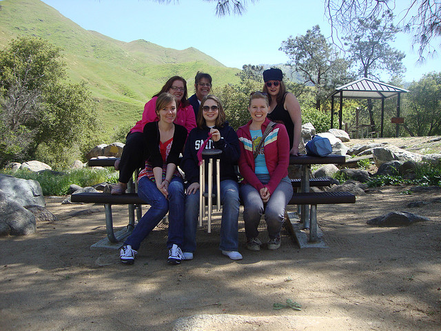 Writing Campers - after a festive mini retreat at the Kern River