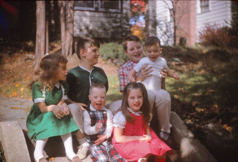Childhood Sunday I'm in the red polka dots