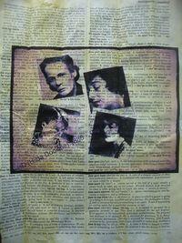Med hilda collage on paper