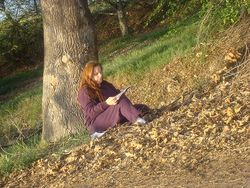 Writing under tree medium