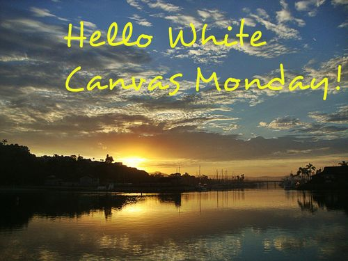 Hello White Canvas Monday