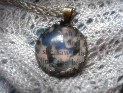 Word love pendant colette