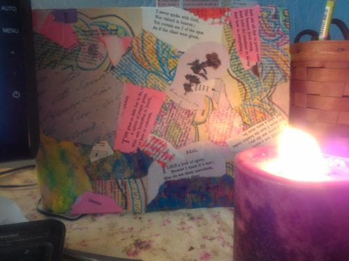 Emfrag in process by candlelight