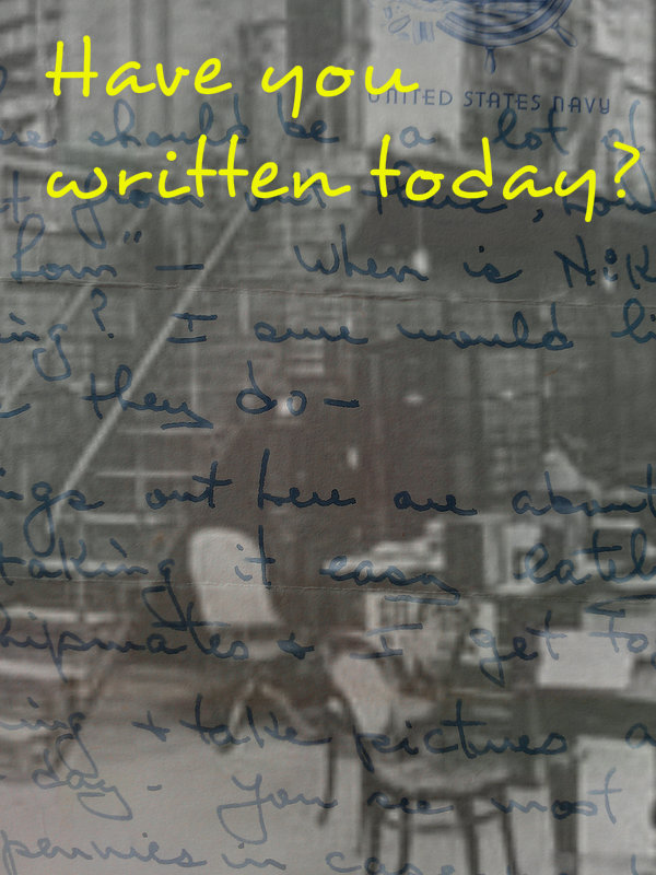 Have you written today