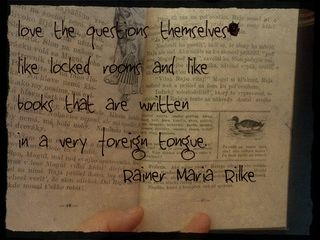 Slovak book 2 with Rilke quote