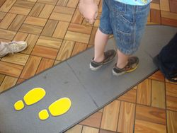 We must put our feet on the footprints