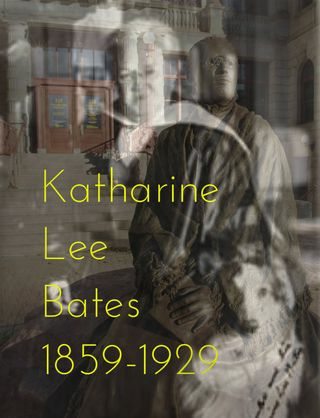 Katharine Lee Bates statue in Colorado Springs + A photo from Harvard