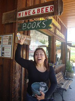 Michelle with books