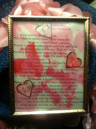 Mysterious miraculous MondayYesterday – Sunday – I created this lovely little Valentine's Poetic beauty.