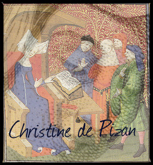 Christine de Pizan with overlay