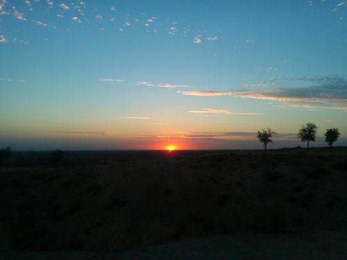 Sunset in Bakersfield