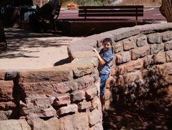 Samuel rock climbing