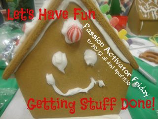 PAF gingerbread house have fun