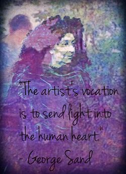 George Sand portrait photo collage