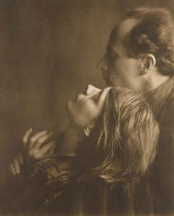 Imogen Cunningham took portraits of her colleagues. This is of Margarthe Mather and Edward Weston in 1920.