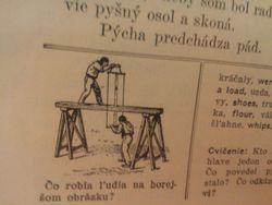 View from one of the pages of my new 1913 Slovak Book Friend