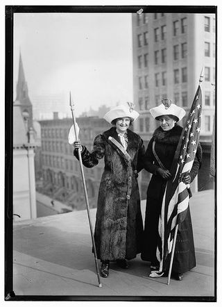 Women Leaders of the Suffrage Movement, Preparing for Walks onWalks on Washington, DC and Albany, NY