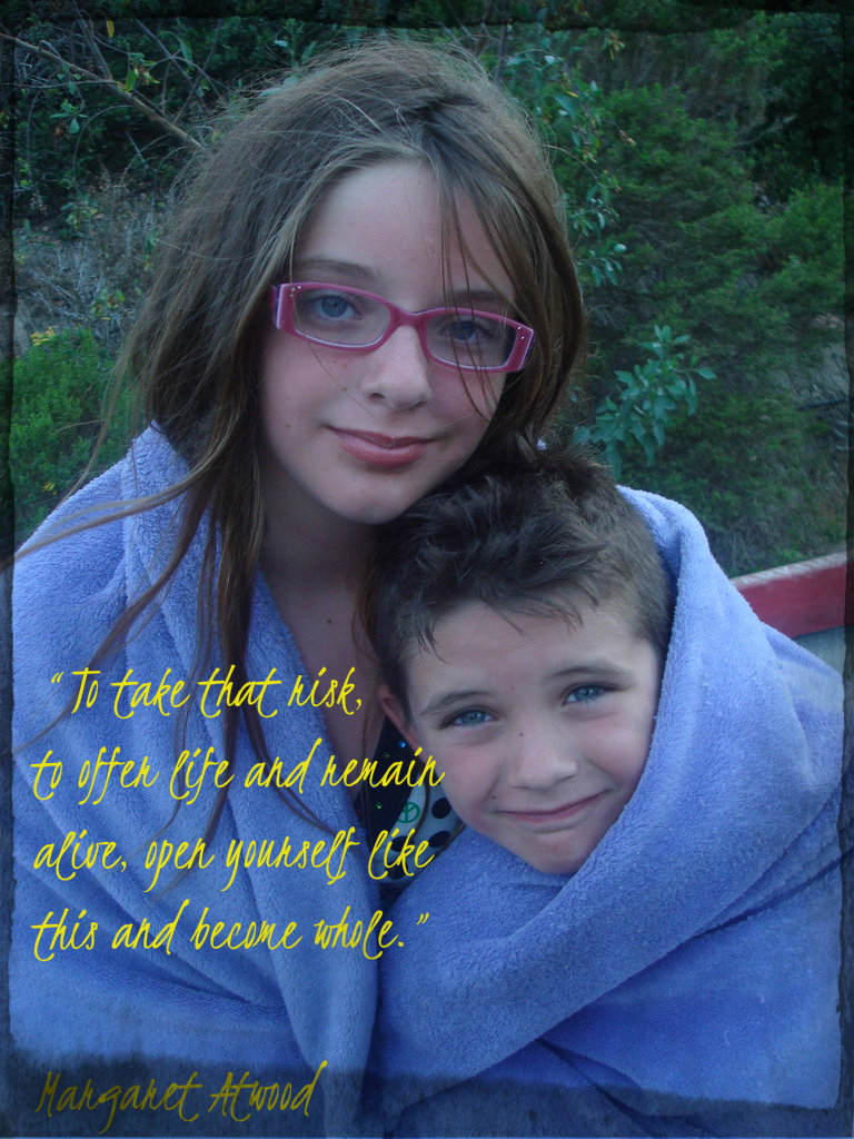 Emma and Samuel June 2008 with quote