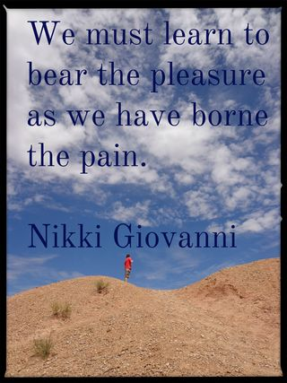 We Must Learn to Bear the Pleasure Giovanni
