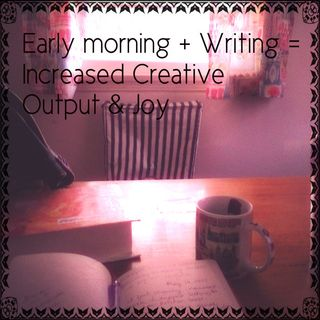 Morning pages kitchen table edit