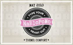 NaBloPoMo May Comfort