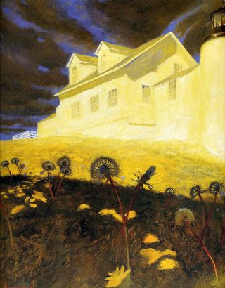 Lighthouse Dandelions by Jamie Wyeth - This week's poetry prompt from Magpie Tales