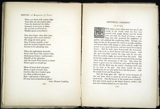"Pages from the First Volume of ""Poetry"" magazine"