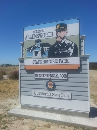 At the Entry of Colonel Allensworth State Historic Park: Let's Keep Gems Like This ALIVE!