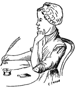 Pencil sketch of Literary Granny Phillis Wheatley