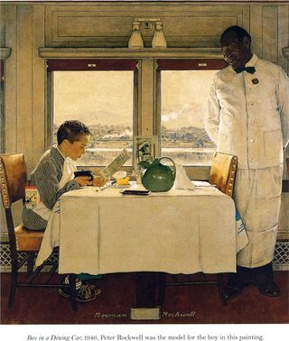 Rockwell, Norman boy-in-a-dining-car-1947