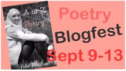 Poetry blogfest sept 9 through 13
