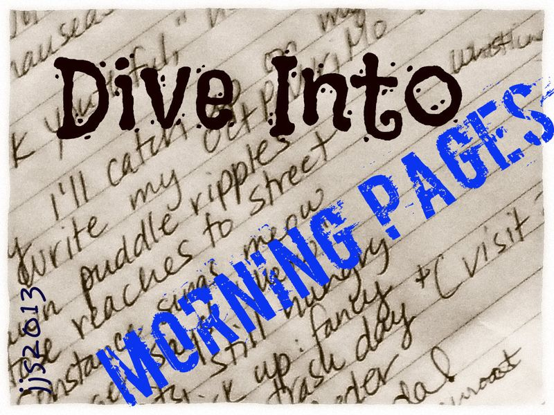 Diving into morning pages