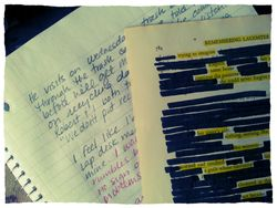 My Morning Pages and a Found/Black Out Poem - from Today