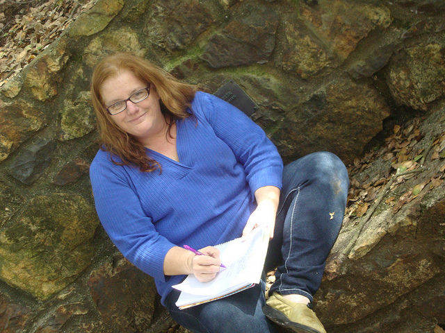 Writing at Joaquin Murrieta park