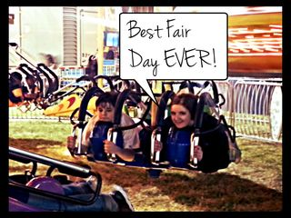 Emma's face says it all: Best Kern County Fair Day Ever!