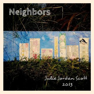 "Mixed Media Art ""Neighbors"" by  Julie Jordan Scott photographed at the Panorama Bluffs"
