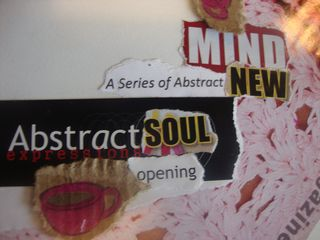Off the Page: A Poem for Writers Collage abstract soul opening series