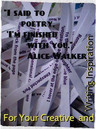Poetry Walker with words